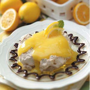 Chocolaty Lemon Meringue Cups
