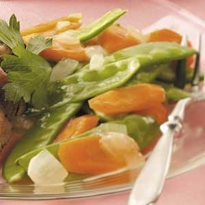 Glazed Snow Peas and Carrots