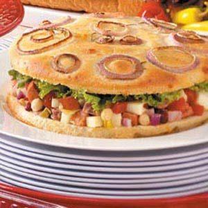 Antipasto Focaccia Sandwiches
