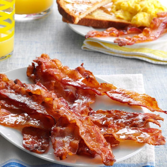 Easy Glazed Bacon