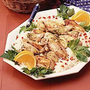 Skillet Chicken and Artichokes