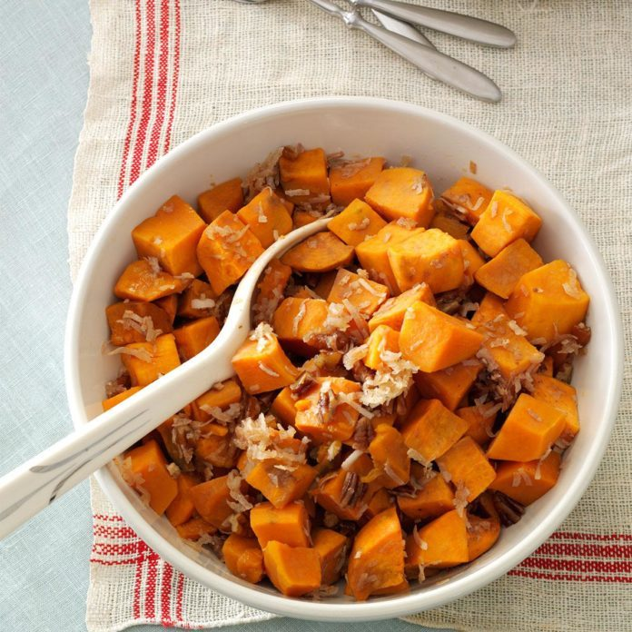 Oklahoma: Coconut-Pecan Sweet Potatoes