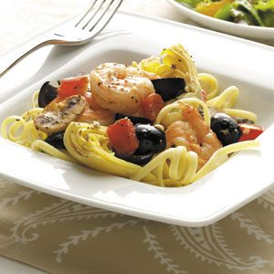 Mediterranean Shrimp and Linguine