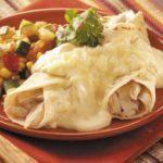 Quick Creamy Chicken Enchiladas