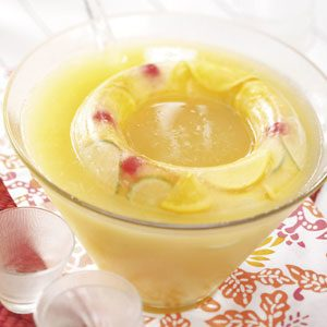 Golden Fruit Punch with Ice Ring