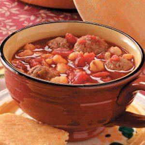 Hominy Meatball Stew