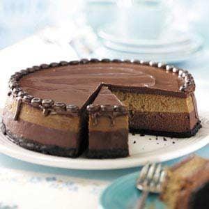 Layered Mocha Cheesecake