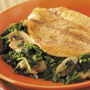Skillet Fish with Spinach