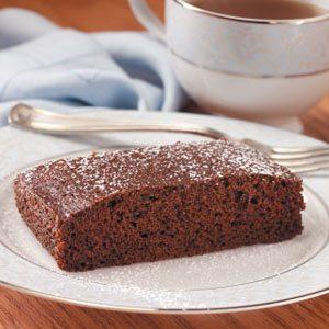 Moist Chocolate Snack Cake