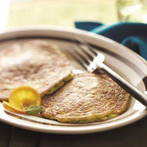 Basil Zucchini Pancakes