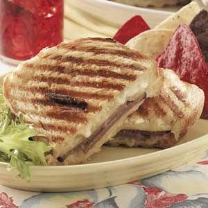 Double-Cheese Beef Panini