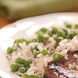 Parmesan Peas 'n' Rice