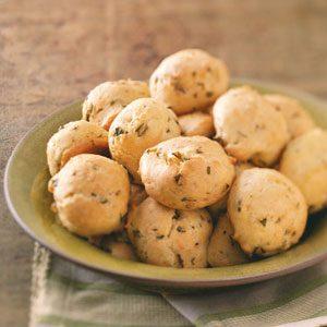 Basil Parmesan Puffs
