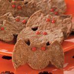 Chocolate-Oat Bat Cookies