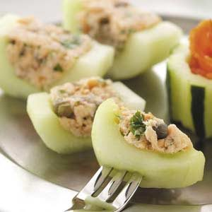 Smoked Salmon Cucumber Canapes