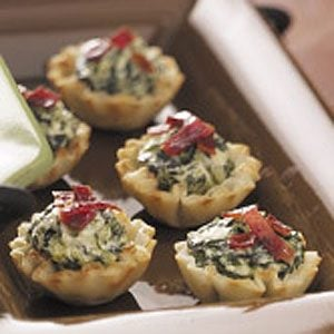 Spinach Bacon Tartlets
