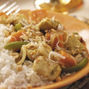 Curry Chicken Tenderloin with Sweet Potatoes