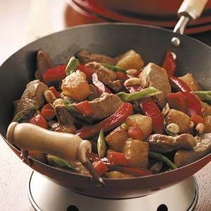 Peanutty Pork Stir-Fry