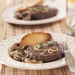 Steaks with French Onion Sauce