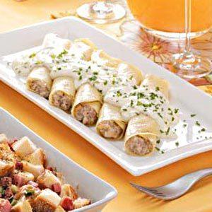 Sausage-Filled Crepes