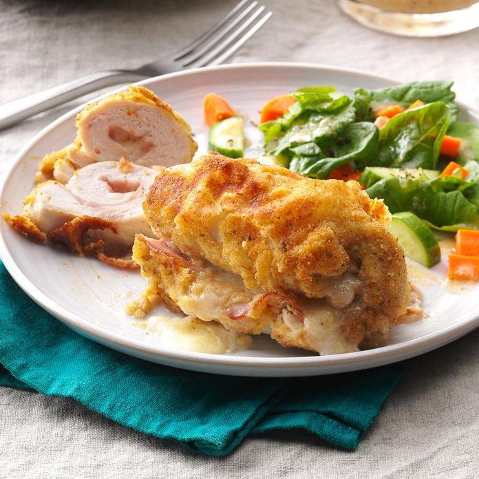 Golden Chicken Cordon Bleu