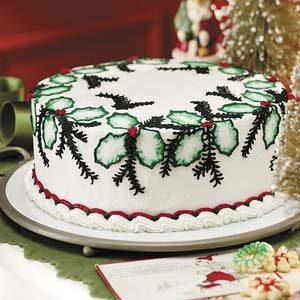 Festive Holly Cake