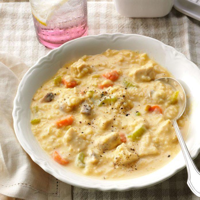 Hearty Turkey 'n' Rice Soup