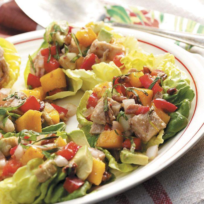 Colorful Turkey Salad Cups