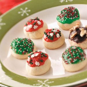 Glazed Cherry Bon Bon Cookies