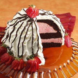 Chocolate-Strawberry Bombe