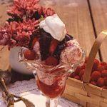 Raspberry Hot Fudge Sundae
