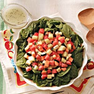 Melon Salad with Poppy Seed Vinaigrette