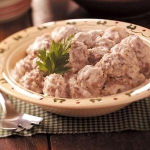 German Meatballs and Gravy
