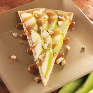 Caramel Apple Dessert Pizza