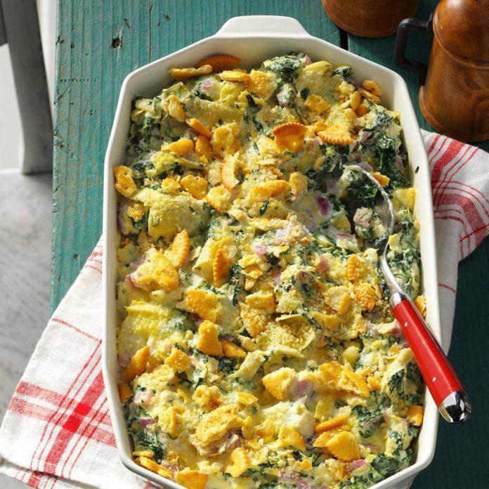 Creamy Parmesan Spinach Bake