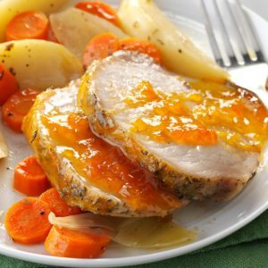 Apricot Pork Roast with Vegetables