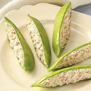 Crab-Stuffed Snow Peas