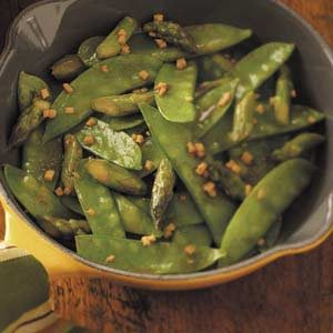 Snow Pea Asparagus Stir-Fry