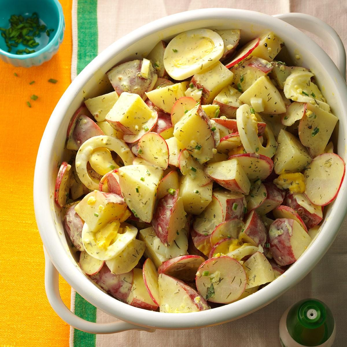 Tangy Potato Salad with Radishes and Eggs