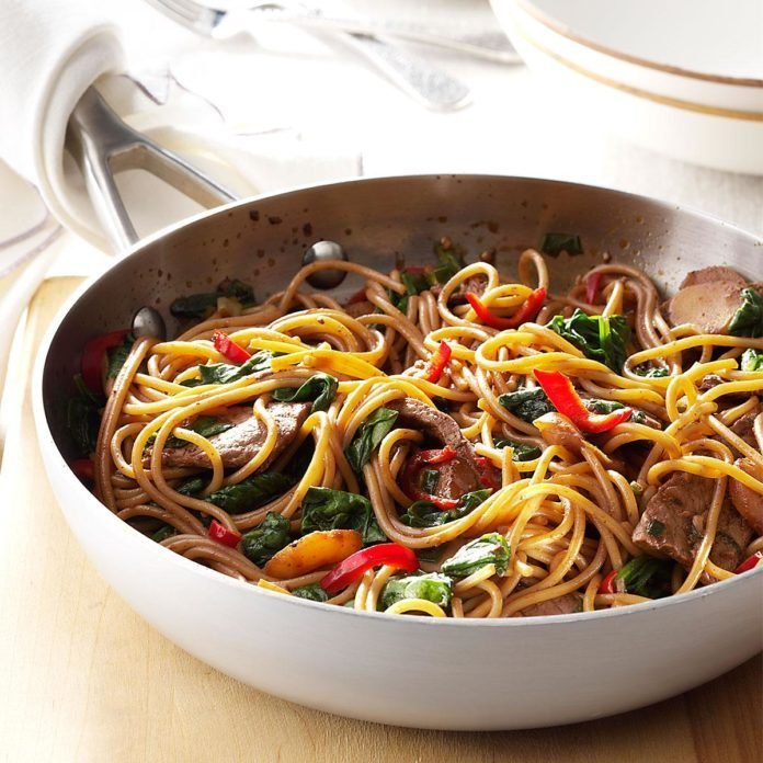 Beef & Spinach Lo Mein