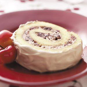 Chocolate Cherry Cake Roll