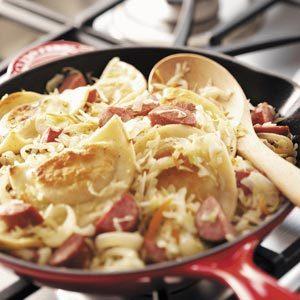 Sausage Pierogi Skillet