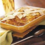 Chicken and Cheddar Tortilla Bake