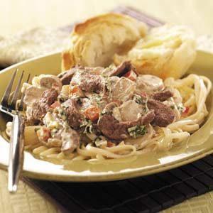 Mushroom Steak 'n' Linguine