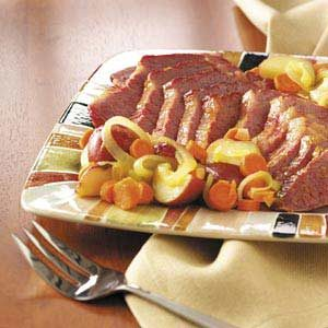 Glazed Corned Beef Dinner