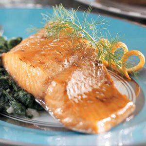Honey-Mustard Glazed Salmon