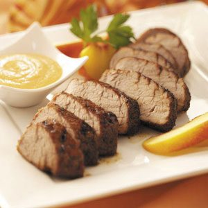 Pork Tenderloin with Peach Honey Mustard