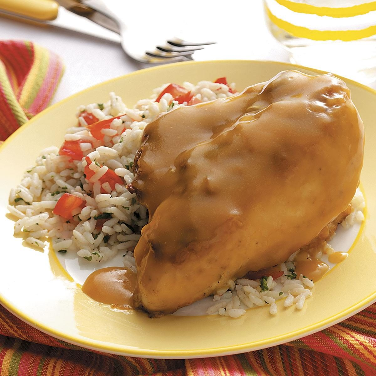 Lemon Chicken with Rice