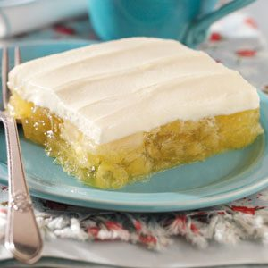 Frosted Pineapple Lemon Gelatin