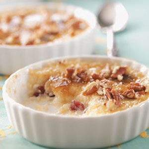 Lemon Rice Pudding Brulee